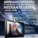 Free laser seminar at the BCN tattoo expo offered by Laserlight