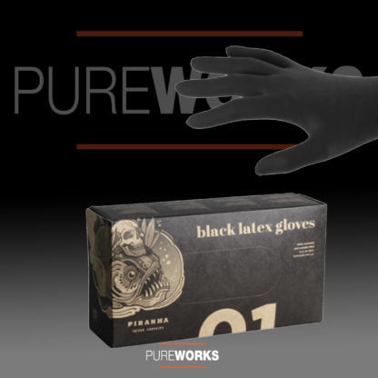 Latex Gloves Black Powder